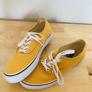 Yellow lace up vans